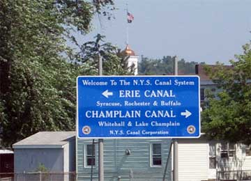 Erie Barge Canal Sign